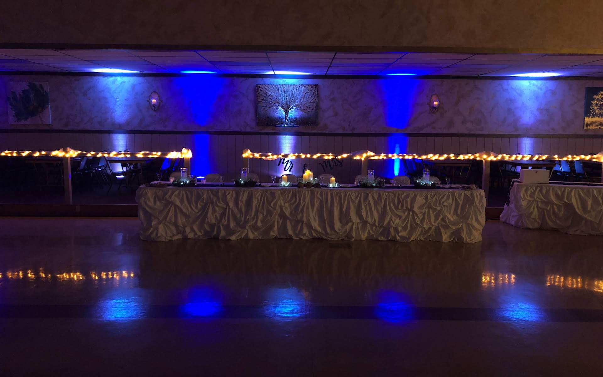 Floor Head Table with Uplighting